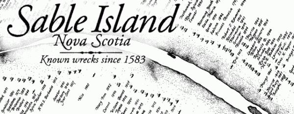 sable island  known shipwrecks since 1583