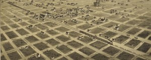 T.M. Fowler's birdseye map of Childress, Texas in 1890. Birdseye view of Childress, Texas Date: 1890 Author: T.M. Fowler Dwnld: Full Size (6.8mb) Print Availability: See our Prints Page for more details pff Either Childress, Texas [gmap] was incredibly ambitious with the implementation of their street grid, or J.J. Stoner had the surveyor's plan in his hands and allowed himself to take a few artistic liberties. For more maps and images […]